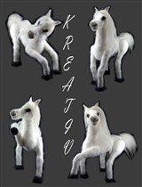 Белая лошадь.