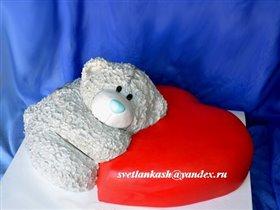 Торт Тедди с сердцем