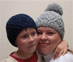 Шапочки для мамы и сыночка