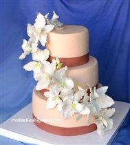 Торт Каскад белых орхидей