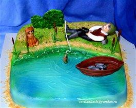 Торт Рыбак и кот