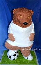 Торт Медведь футболист