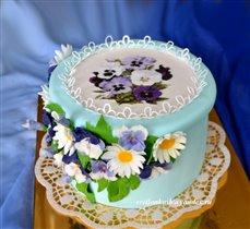 Торт Шкатулка с цветами