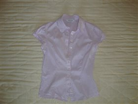 Блуза бледно сиренево-розовая