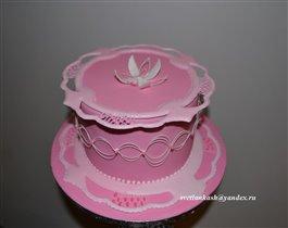 Торт с украшением из айсинга