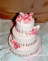 Торт Цветы и нити