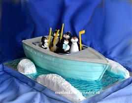 Торт Пингвины в одной лодке
