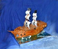 Торт Корабль пиратов
