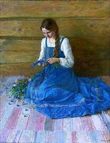 А.Шалаев. Девушка в голубом сарафане
