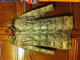 Пуховое пальто, 40-42 размер