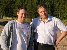 сын Дмитрий и я