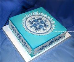 Торт Гжель