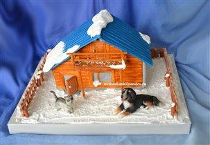 Торт Зимний домик