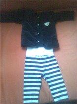 Немецкий бархатный костюм 74 см