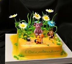 Торт Лунтик в цветах