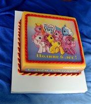 Фото торт Маленькие пони