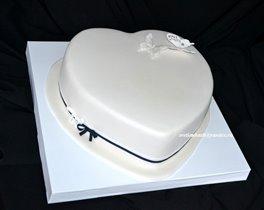 Торт Белое сердце