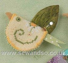Джастиковая птичка Needle Tweets - Lemon Daisy