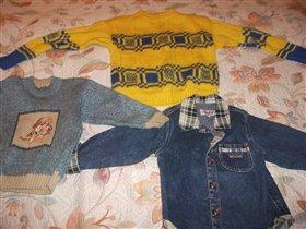 рубашка глория р. 24  свитер р.3 свитер 4-5