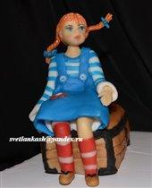 Сахарная фигурка Пеппи длинный чулок