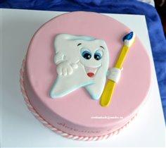 Торт Первый зуб