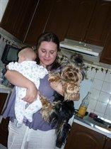 Мои дети, человеческий и меховой))