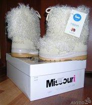 Унты Missouri, белые, размер 31-32