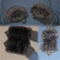 рукавички - ёжики