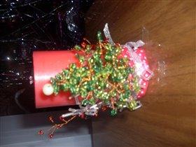 свечка украшеная бисерам