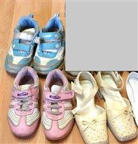 голубые 29размер,розовые и туфли 27размер