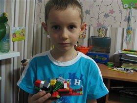 Сани с подарками деда Мороза. Каплин Егор, 6 лет.