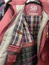 Мужская куртка Steinberg, 46 бордо