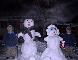 Наши снеговечки!!!