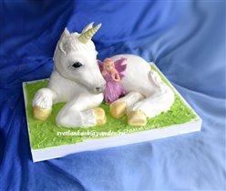 Торт Единорог с феей
