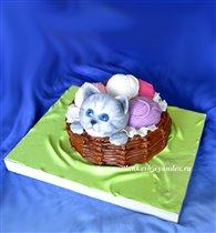Торт Котёнок с клубками