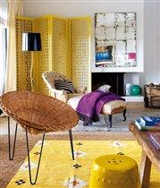 Плетеная мебель в интерьере городской квартиры