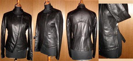 ХИТ! Кожаная куртка косуха с молниями по бокам!