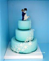 Торт Каскад снежинок