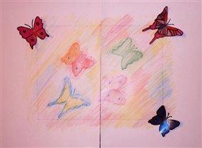 Бабочки 'Фроттаж'