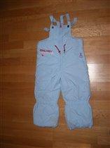 Теплые штаны для девочки р.116