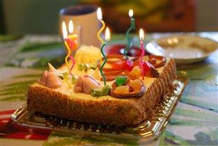 шестимесячный торт:)