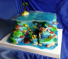 Торт Подводный мир