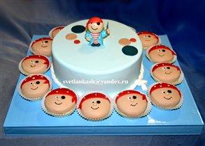 Пиратский торт и капкеки