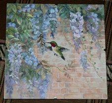 Hummingbird and Wisteria - Dimensions