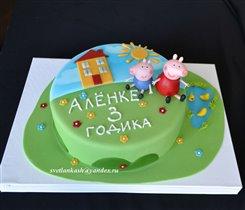 Торт Свинка Пеппа с братом