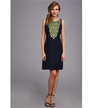 Jessica Howard Sleeveless Split Neck Shift