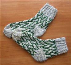 Носки ленивым жакардом