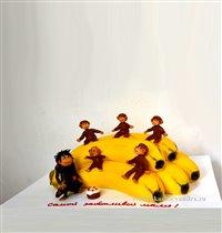 Торт Бананы с обезьянками