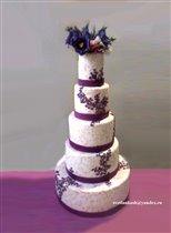 Торт Свадебный с росписью