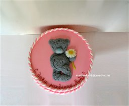 Торт Мишка Тедди на розовом